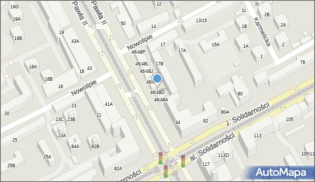 Warszawa, Aleja Jana Pawła II, 46/48D, mapa Warszawy