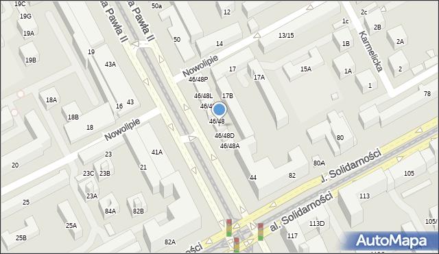 Warszawa, Aleja Jana Pawła II, 46/48F, mapa Warszawy