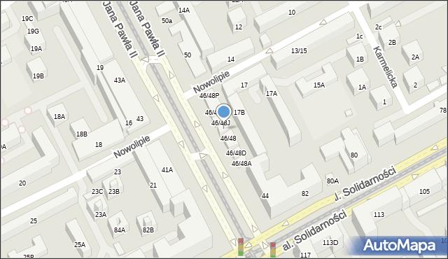 Warszawa, Aleja Jana Pawła II, 46/48H, mapa Warszawy
