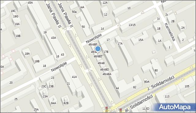 Warszawa, Aleja Jana Pawła II, 46/48J, mapa Warszawy