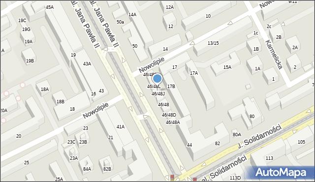 Warszawa, Aleja Jana Pawła II, 46/48K, mapa Warszawy