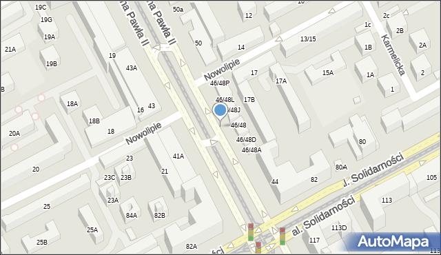 Warszawa, Aleja Jana Pawła II, 46, mapa Warszawy