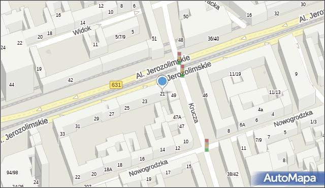Warszawa, Aleje Jerozolimskie, 21, mapa Warszawy