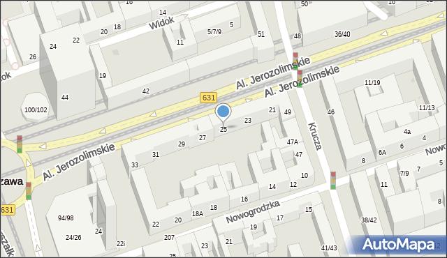 Warszawa, Aleje Jerozolimskie, 25, mapa Warszawy