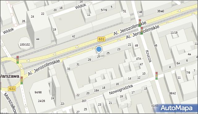 Warszawa, Aleje Jerozolimskie, 27, mapa Warszawy