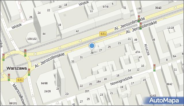Warszawa, Aleje Jerozolimskie, 29, mapa Warszawy