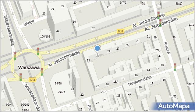 Warszawa, Aleje Jerozolimskie, 31, mapa Warszawy