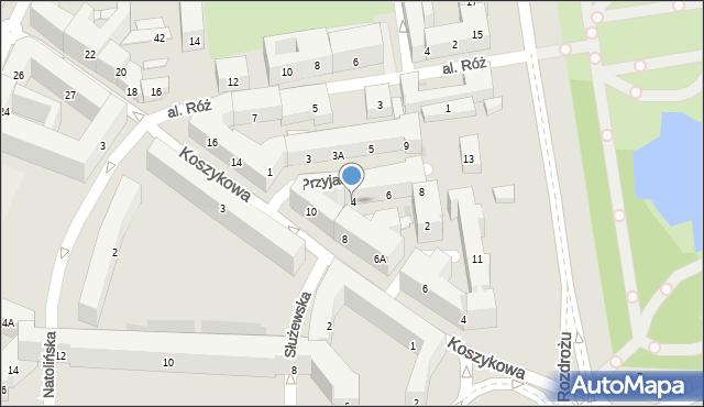 Warszawa, Aleja Przyjaciół, 4, mapa Warszawy