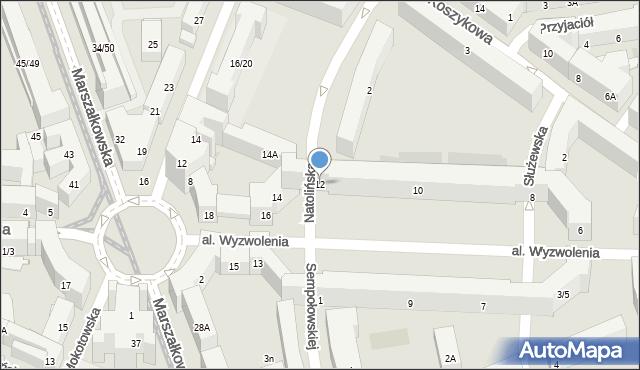 Warszawa, Aleja Wyzwolenia, 12, mapa Warszawy
