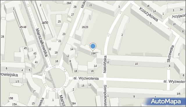 Warszawa, Aleja Wyzwolenia, 14A, mapa Warszawy