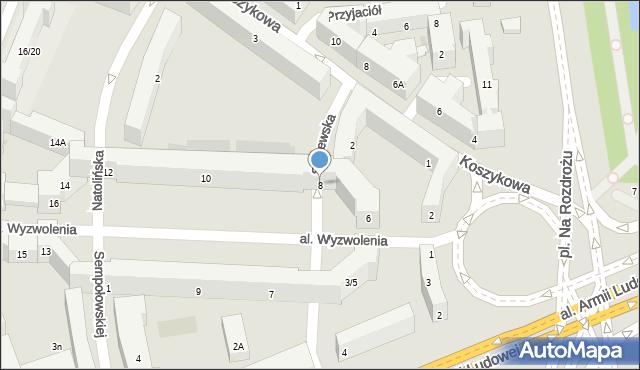 Warszawa, Aleja Wyzwolenia, 8, mapa Warszawy