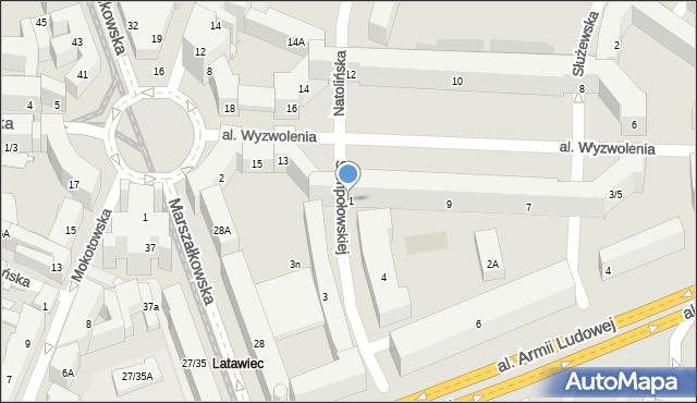 Warszawa, Aleja Wyzwolenia, 11, mapa Warszawy