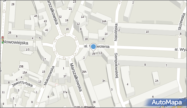 Warszawa, Aleja Wyzwolenia, 15, mapa Warszawy
