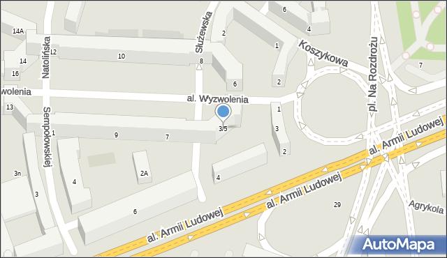 Warszawa, Aleja Wyzwolenia, 3/5, mapa Warszawy