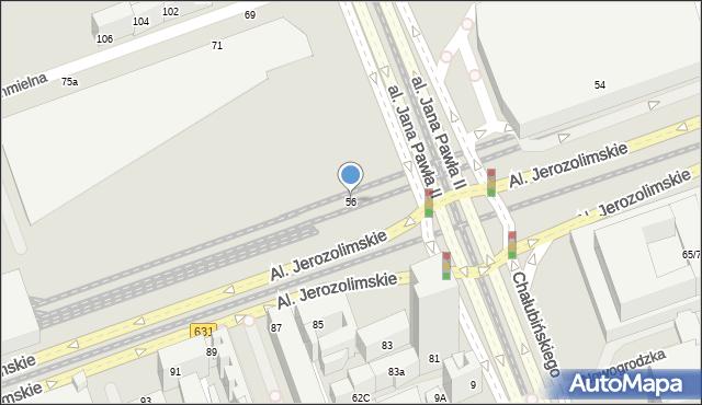 Warszawa, Aleje Jerozolimskie, 56, mapa Warszawy