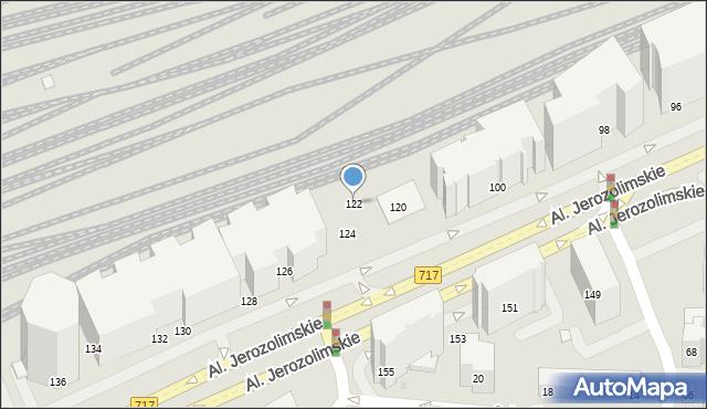 Warszawa, Aleje Jerozolimskie, 122, mapa Warszawy