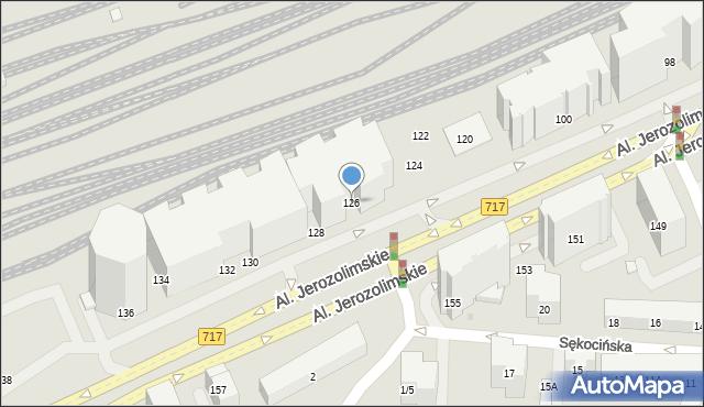 Warszawa, Aleje Jerozolimskie, 126, mapa Warszawy