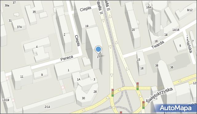 Warszawa, Aleja Jana Pawła II, 17, mapa Warszawy