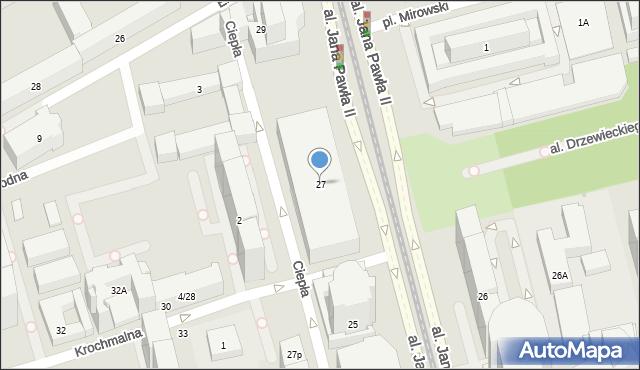 Warszawa, Aleja Jana Pawła II, 27, mapa Warszawy