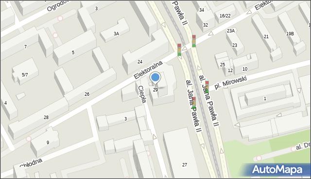 Warszawa, Aleja Jana Pawła II, 29, mapa Warszawy
