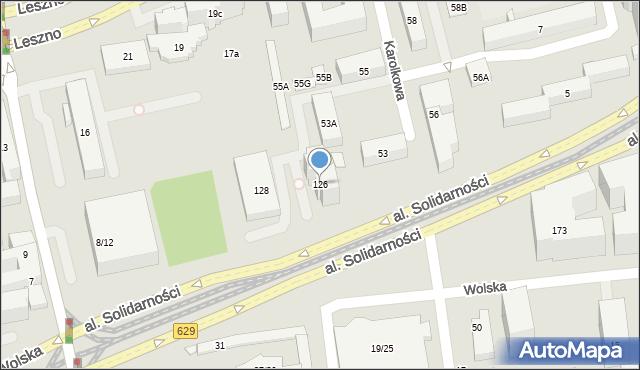 Warszawa, Aleja Solidarności, 126, mapa Warszawy