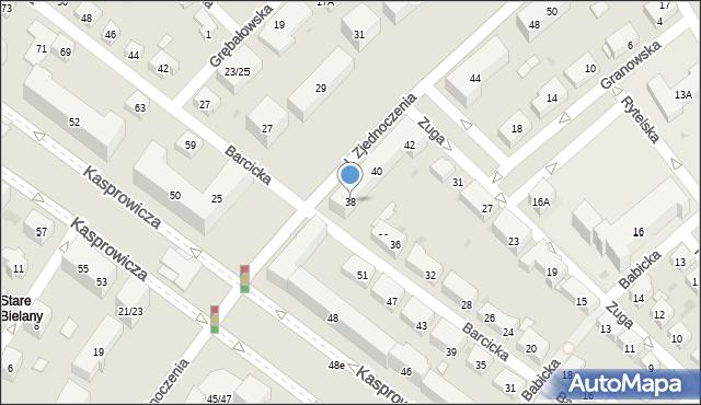 Warszawa, Aleja Zjednoczenia, 38, mapa Warszawy
