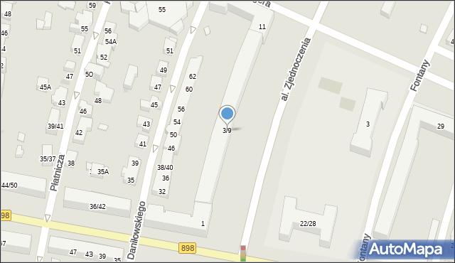Warszawa, Aleja Zjednoczenia, 3/9, mapa Warszawy