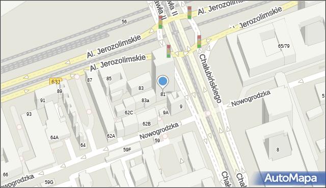 Warszawa, Aleje Jerozolimskie, 81, mapa Warszawy