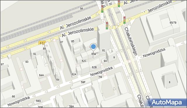 Warszawa, Aleje Jerozolimskie, 83a, mapa Warszawy