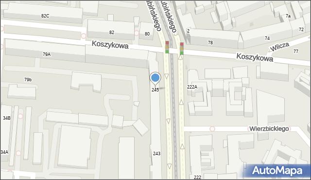 Warszawa, Aleja Niepodległości, 245, mapa Warszawy