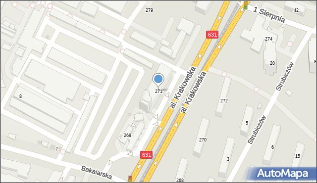 Warszawa, Aleja Krakowska, 271, mapa Warszawy