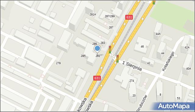 Warszawa, Aleja Krakowska, 281, mapa Warszawy