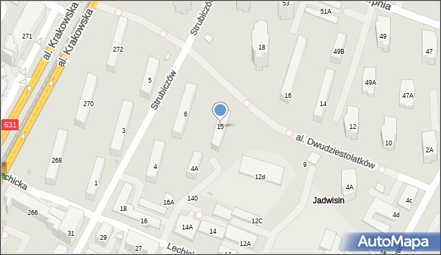Warszawa, Aleja Dwudziestolatków, 15, mapa Warszawy