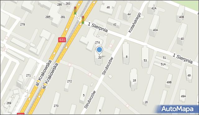 Warszawa, Aleja Dwudziestolatków, 20, mapa Warszawy