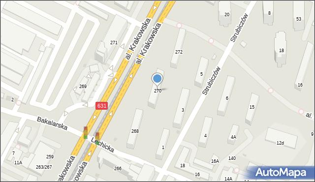 Warszawa, Aleja Krakowska, 270, mapa Warszawy