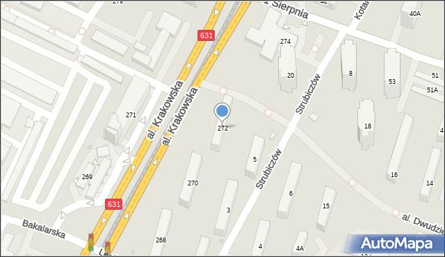Warszawa, Aleja Krakowska, 272, mapa Warszawy
