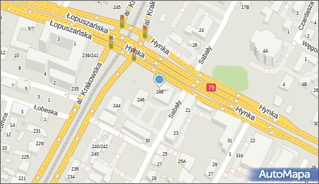 Warszawa, Aleja Krakowska, 248, mapa Warszawy