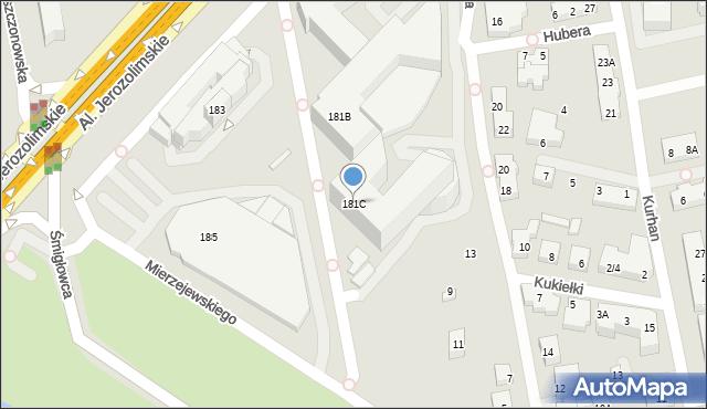 Warszawa, Aleje Jerozolimskie, 181C, mapa Warszawy