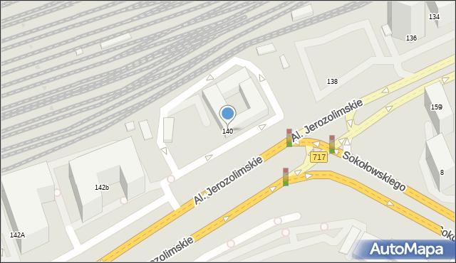 Warszawa, Aleje Jerozolimskie, 140, mapa Warszawy