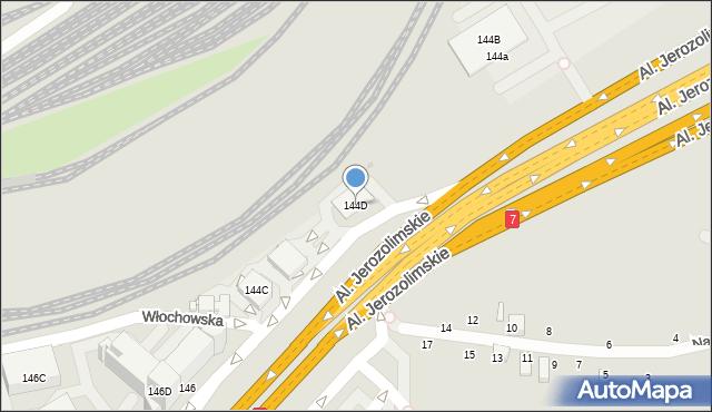 Warszawa, Aleje Jerozolimskie, 144D, mapa Warszawy