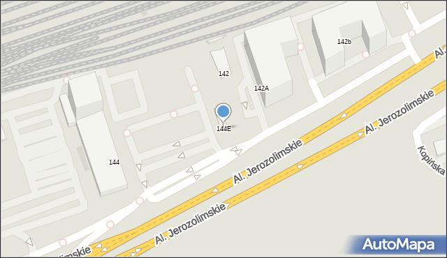 Warszawa, Aleje Jerozolimskie, 144E, mapa Warszawy