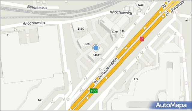 Warszawa, Aleje Jerozolimskie, 146A, mapa Warszawy