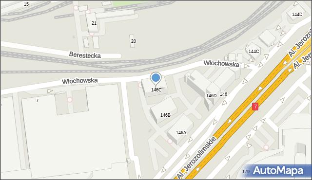 Warszawa, Aleje Jerozolimskie, 146C, mapa Warszawy