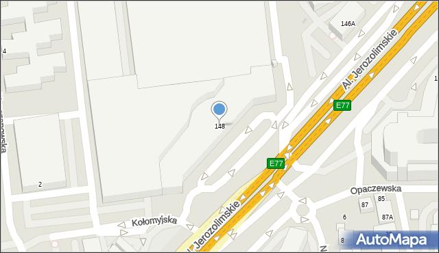 Warszawa, Aleje Jerozolimskie, 148, mapa Warszawy