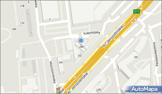 Warszawa, Aleje Jerozolimskie, 150, mapa Warszawy