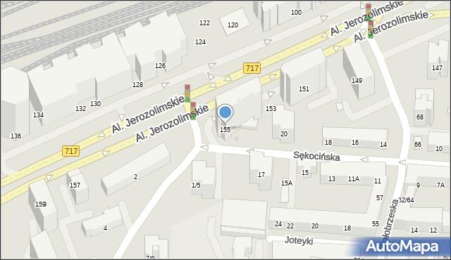 Warszawa, Aleje Jerozolimskie, 155, mapa Warszawy