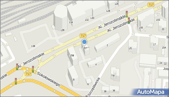 Warszawa, Aleje Jerozolimskie, 157, mapa Warszawy