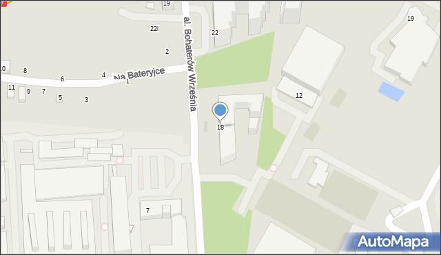 Warszawa, Aleja Bohaterów Września, 18, mapa Warszawy