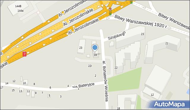 Warszawa, Aleja Bohaterów Września, 19, mapa Warszawy