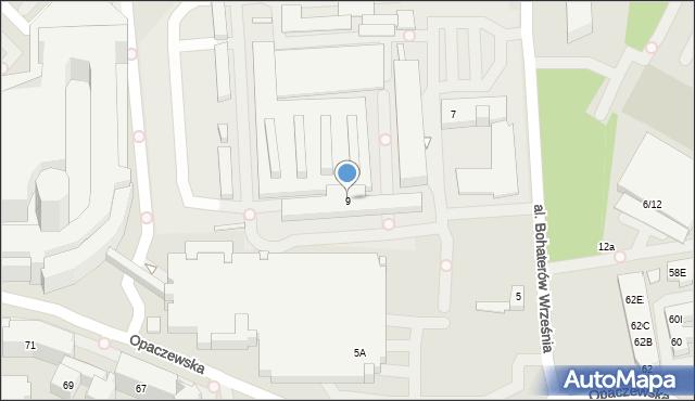 Warszawa, Aleja Bohaterów Września, 9, mapa Warszawy